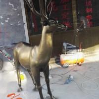 安徽康大雕塑 现代简约办公桌鹿头鹿雕塑
