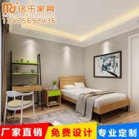 简约现代卧室客厅公寓板式床酒店床头柜宾馆成套新款板式家具定制