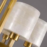 现代中式纯铜玉石吊灯,中山高端订做工程灯饰