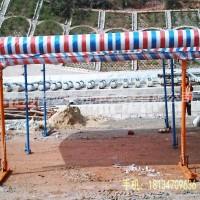 水泥混凝土路面施工防雨棚 双悬臂全折叠晴雨棚  施工防雨方案措施